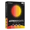 "Astrobrights Color Paper - ""Warm"" Assortment, 24lb, 8 1/2 x 11, 5 Colors, 500 Sheets"