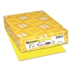 Color Paper, 24lb, 8 1/2 x 11, Lift-Off Lemon, 500 Sheets