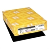Color Paper, 24lb, 8 1/2 x 11, Eclipse Black, 500 Sheets