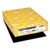 Astrobrights Color Paper, 24lb, 8 1/2 x 11, Eclipse Black, 500 Sheets