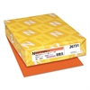Neenah Paper Exact Brights Paper, 8 1/2 x 11, Bright Tangerine, 20lb, 500 Sheets