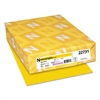 Astrobrights Color Cardstock, 65lb, 8 1/2 x 11, Solar Yellow, 250 Sheets