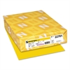Color Cardstock, 65lb, 8 1/2 x 11, Sunburst Yellow, 250 Sheets