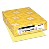 Neenah Paper Exact Index Card Stock, 110lb, 8 1/2 x 11, Canary, 250 Sheets