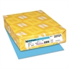 Color Cardstock, 65lb, 8 1/2 x 11, Lunar Blue, 250 Sheets