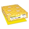 Neenah Paper Exact Brights Paper, 8 1/2 x 11, Bright Yellow, 20lb, 500 Sheets