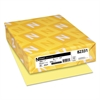 Neenah Paper Exact Vellum Bristol Cover Stock, 67lb, 8 1/2 x 11, Yellow, 250 Sheets