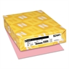 Neenah Paper Exact Vellum Bristol Cover Stock, 67lb, 8 1/2 x 11, Pink, 250 Sheets