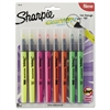 Clearview Pen-Style Highlighter, Fine Chisel Tip, Assorted Ink, 8/Pack