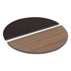 Reversible Laminate Table Top, Half Round, 48w x 24d, Espresso/Walnut