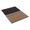 Reversible Laminate Table Top, Rectangular, 35 3/8w x 23 5/8d, Espresso/Walnut