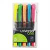 Universal Liquid Pen Style Highlighter, Chisel Tip, 5/Set