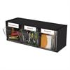 Tilt Bin Plastic Storage System, 3 Bins, 23 5/8 x 7 3/4 x 9 1/2, Black