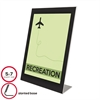 deflecto Superior Image Black Border Sign Holder, Plastic, 5 x 7, Black/Clear