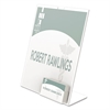 deflecto Superior Image Sign Holder With Pocket, 8 1/2w x 4 1/2d X 11h, Clear