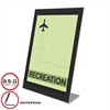 Superior Image Black Border Sign Holder, Plastic, 8-1/ 2 x 11, Black/Clear