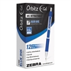 Zebra Orbitz Retractable Gel Pen, Medium, Blue Ink, 0.7mm, Dozen