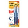 Atlantis Bold Retractable Ball Pen, Blue, 3/Pack