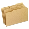 Two-Ply Dark Kraft File Folders, 1/3 Cut Top Tab, Legal, Brown, 100/Box
