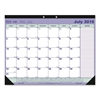 Blueline Academic Desk Pad Calendar, 21 1/4 x 16, White/Blue/Green, 2016-2017