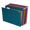 Earthwise EZ Slide Hanging File Folders, 1/5 Tab, Letter, Assorted, 20/Box