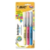 BIC Brite Liner Flex Tip Highlighters, Brush Tip, Assorted Colors