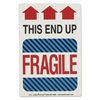 Shipping Self-Adhesive Label, 5 7/8 x 4 1/4, THIS END UP, FRAGILE, 500/Roll