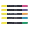 Twin Tip Highlighters, Chisel Tip, Assorted, 10/Set