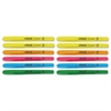 Universal Pocket Clip Highlighter, Chisel Tip, Assorted Colors, 12/Set