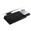 "Positive Locking Keyboard Tray, Highly Adjustable Platform, 17 3/4"" Track, Black"