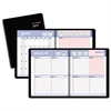 QuickNotes Weekly/Monthly Appointment Book, 8 x 9 7/8, Black/Pink, 2017