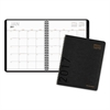 Contemporary Monthly Planner, 6 7/8 x 8 3/4, Graphite Cover, 2017