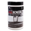 "AllScreen Screen Cleaning Wipes, 6"" x 6"", White, 75/Tub"
