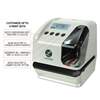 Lathem Time 5000E Plus Electronic Time Recorder/Document Stamp/Numbering Machine, Cool Gray