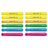 Desk Highlighter, Chisel Tip, Assorted Colors, 12/Set