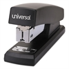 "Universal Economy Half-Strip Stapler, 20-Sheet Capacity, 2"" Throat, Black"