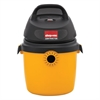 Portable Economy Wet/Dry Vacuum, 2.5 gal, 120V, 8A, 9lbs, Black/Yellow