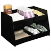 Boardwalk Condiment Organizer, 14 1/3 x 10 1/2 x 9 2/3, 6-Compartment, Black