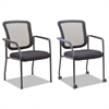 Alera Mesh Guest Stacking Chair, Black