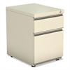Alera Two-Drawer Metal Pedestal File With Full Length Pull, 14 7/8w x 19 1/8d, Putty