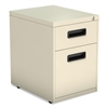 Alera Two-Drawer Metal Pedestal File, 14 7/8w x 19 1/8d x 21 3/4h, Putty