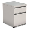 2-Drawer Metal Pedestal Box File w/Full Length Pull, 14 7/8w x 19 1/8d, Lt Gray