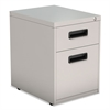 Alera Two-Drawer Metal Pedestal File, 14 7/8w x 19 1/8d x 21 5/8h, Light Gray