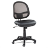 Alera Alera Interval Series Swivel/Tilt Mesh Chair, Black Leather