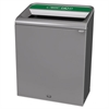 Configure Indoor Recycling Waste Receptacle, 45 gal, Gray, Organic Waste