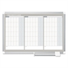 Magnetic Dry Erase Calendar Board, 36 x 24, Silver Aluminum Frame