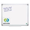Earth Silver Easy Clean Dry Erase Boards, 48 x 96, White, Aluminum Frame