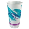 SOLO Cup Company Trophy Plus Dual Temp Cups, 20 oz, Jazz Design, White/Green/Purple, 750/Carton