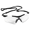 V60 Nemesis Rx Reader Safety Glasses,  Black Frame, Clear Anti-Fog Lens,12/Ctn