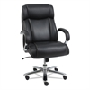 Alera Alera Maxxis Series Big and Tall Leather Chair, Black/Chrome